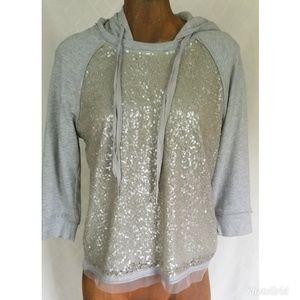 Juicy Couture Sequin Hoodie Size Medium